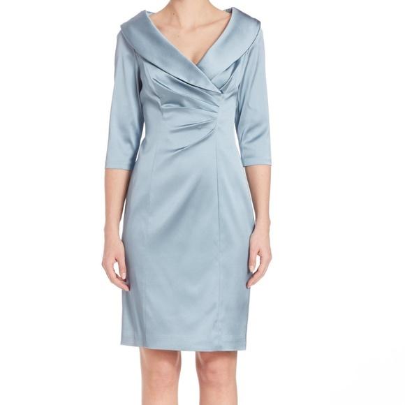 8dd48b7e Kay Unger Dresses | Nwt Shawl Collar Stretch Satin Dress | Poshmark